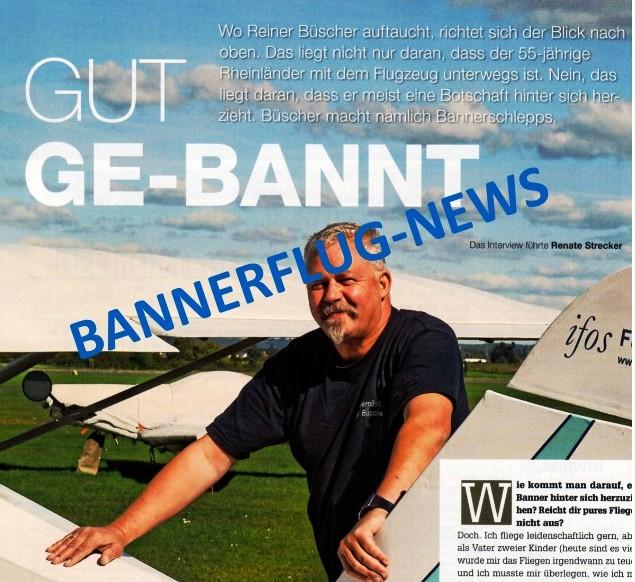 Die Bannerarten bei Bannerfliegen. Erfolg durch Luftwerbung.